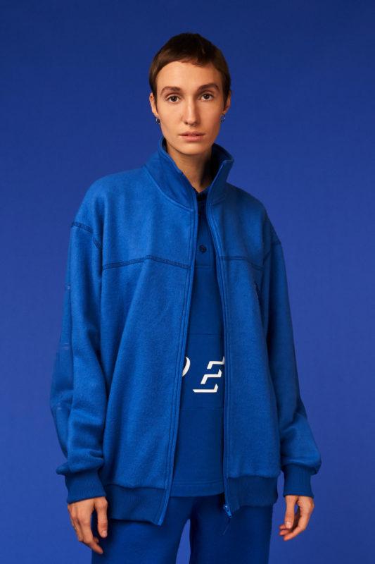 Track zipped jacket