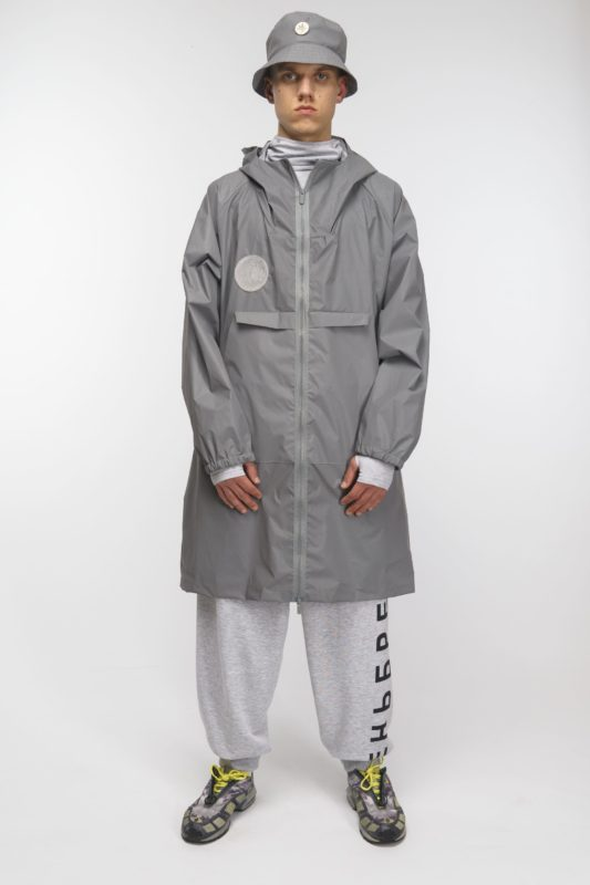 Reflective raincoat